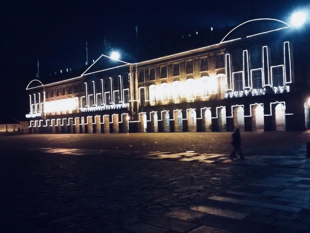 Plaza del Obradoiro en Navidades